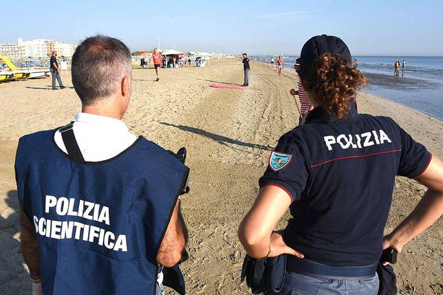 Plaża w Rimini, gdzie doszło do brutalnego napadu i gwałtu