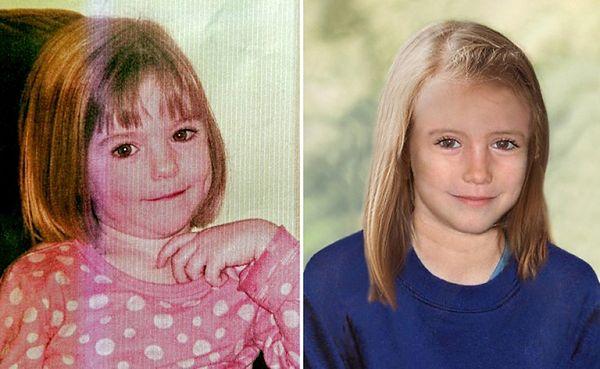 Zaginiona 3-letnia Madeleine i komputerowo zrekonstruowany portret 10-letniej Madeleine