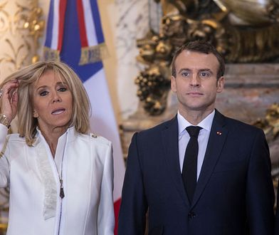 Brigitte Macron w udanej stylizacji