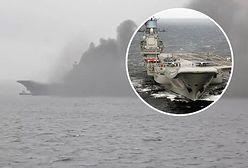 """Rosja. Potężny pożar na pokładzie lotniskowca """"Admirał Kuzniecow"""""""
