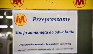 Koronawirus w Polsce. Zamknięte stacje metra