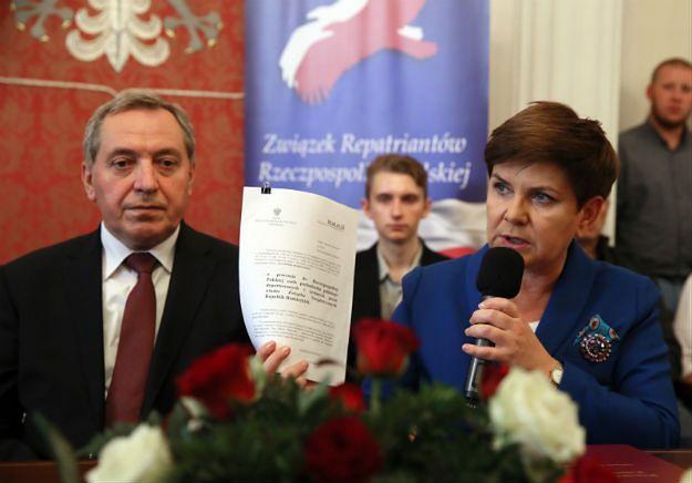 Beata Szydło: nowa ustawa repatriacyjna w ciągu pierwszych 100 dni nowego rządu