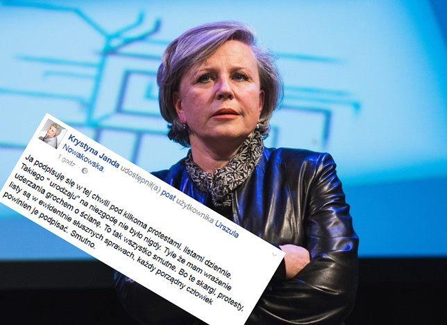 """Janda podpisuje petycje przeciw przemocy, ale... """"Mam wrażenie uderzania grochem o ścianę"""""""