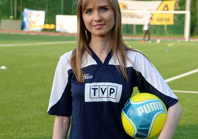 Bugała w kobiecej drużynie piłki nożnej w TVP