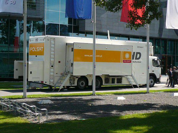 Wóz transmisyjny Polsatu HD