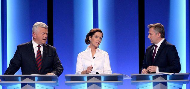 Debata liderów mniej popularna niż starcie Ewy Kopacz i Beaty Szydło