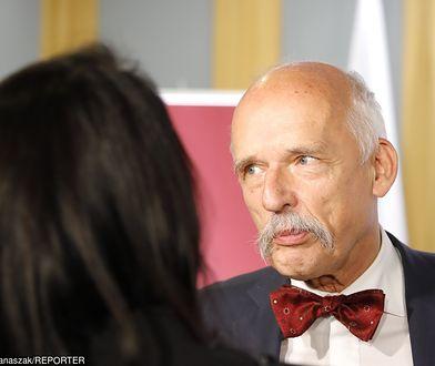 Janusz Korwin-Mikke zabrał głos w sprawie seksafery ze Stefanem Niesiołowskim