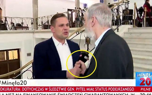 Rafał Grupiński chwycił za mikrofon reportera TVP Info