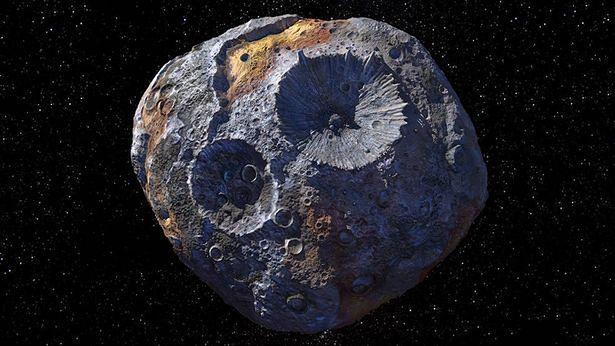 """Asteroida (16) Psyche jest nazywana potocznie """"żyłą złota""""."""