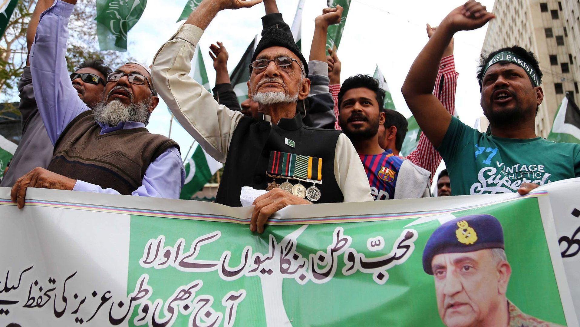 Anty indyjska demonstracja w Karaczi. 27 lutego 2019 roku.