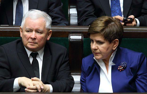 Prezes Jarosław Kaczyński i premier Beata Szydło