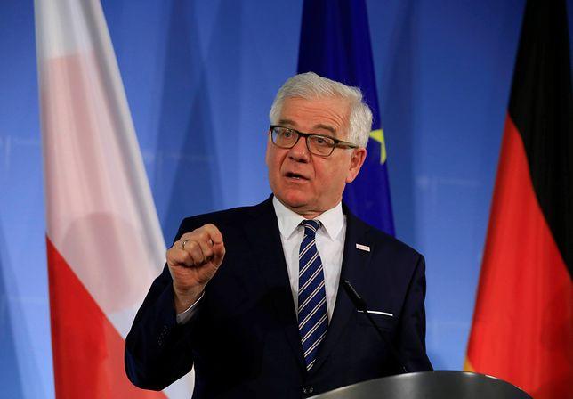 Jacek Czaputowicz uważa, że Macron nie powinien pouczać Polski
