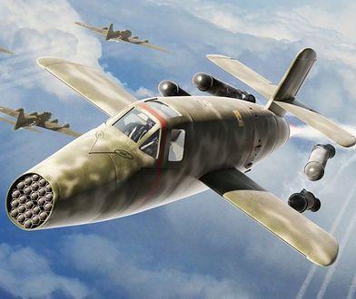 Bachem Ba 349 Natter - grafika przedstawiająca moment odrzucenia dodatkowych silników
