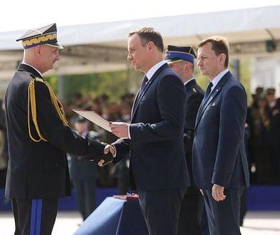 Uroczystości z okazji Dnia Strażaka. Prezydent A. Duda wręcza nominacje