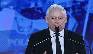Jarosław Kaczyński na konwencji PiS.