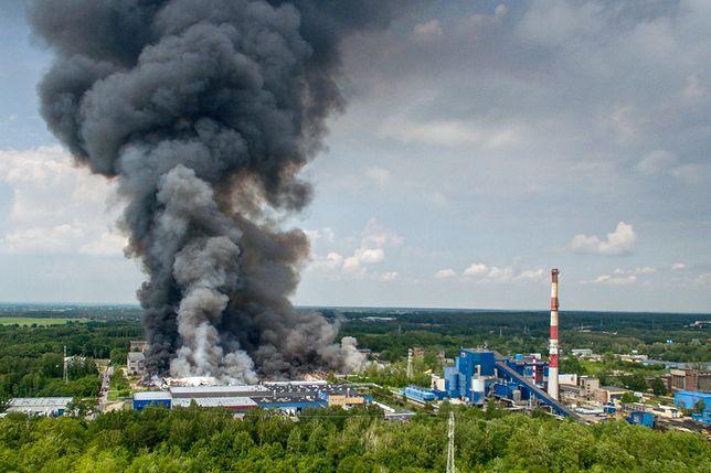Pożar w Zgierzu pod Łodzią