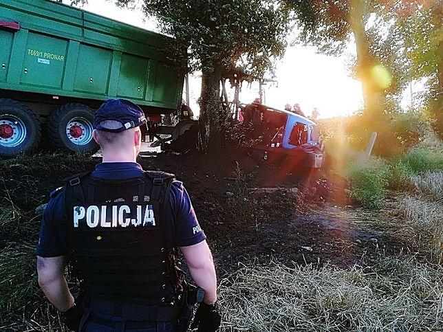 Kierowca ciągnika zginął na miejscu w płonącej kabinie pojazdu