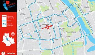 Mapa tras objazdowych