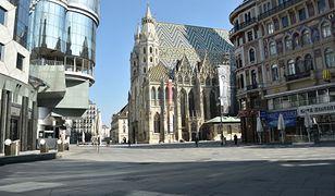 Przejmująco puste ulice Wiednia podczas wiosennego lockdownu