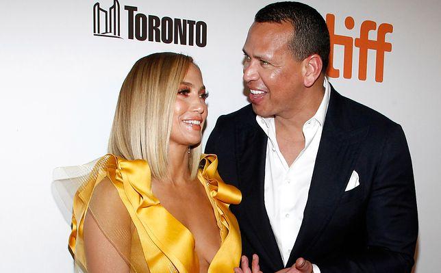 Jennifer Lopez i  Alex Rodriguez na premierze filmu