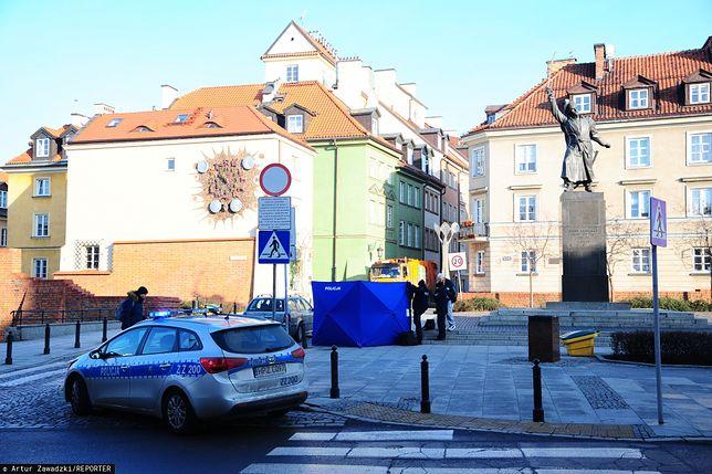 Warszawa. Śmierć na Starym Mieście, na miejsce wezwano policję