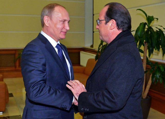 Spotkanie Władimira Putina z Francois Hollandem
