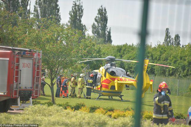Ranną uczennicę i woźną przetransportowano do szpitali we Włocławku i Toruniu