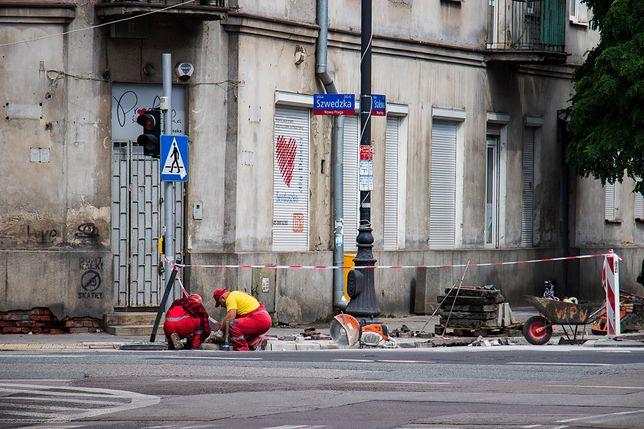 Warszawa. Remont ulicy Szwedzkiej