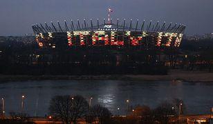 """Na Stadionie Narodowym wyświetlono napis """"Italy"""""""