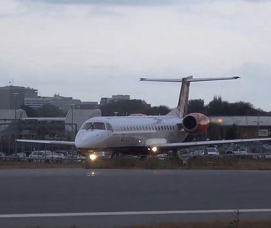 Samoloty zderzyły się na lotnisku w Szkocji. Bombardrier uderzył w Embraera [Zdjęcia]