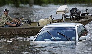 Prezydent Obama z wizytą u powodzian