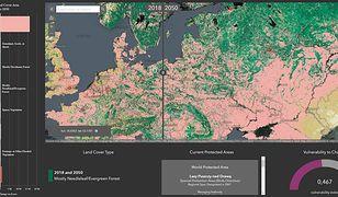 Esri Land Cover 2050 - interaktywna mapa świata