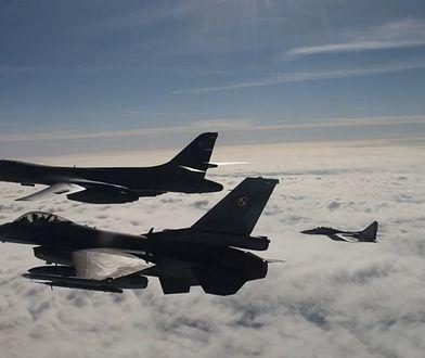 Polscy piloci F-16 eskortowali amerykański bombowiec B-1B. Mariusz Błaszczak komentuje