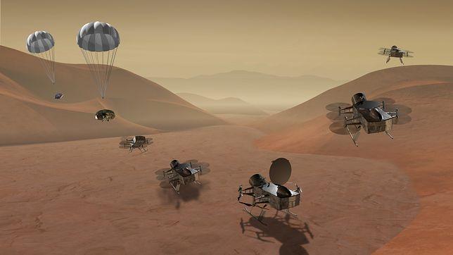 """NASA z nową misją """"Dragonfly"""". Wyślą drona na księżyc Saturna"""