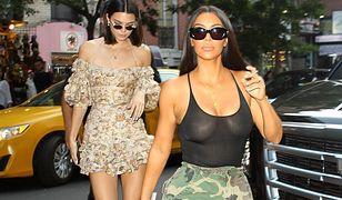Kim Kardashian i Kendall Jenner zrezygnowały z noszenia staników. To nowy trend?