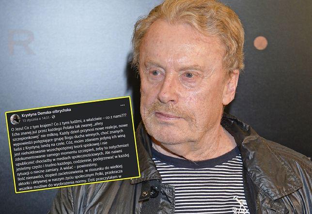 TVN Discovery Polska odpowiada na wpis żony Olbrychskiego