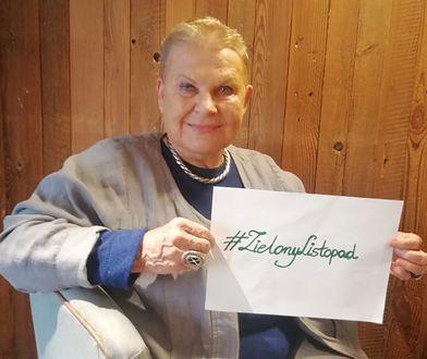 Elżbieta Dzikowska wzięła udział w akcji #ZielonyListopad