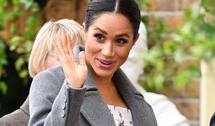 Księżna Meghan z ogromnym brzuszkiem. Plotki o bliźniętach coraz bardziej realne