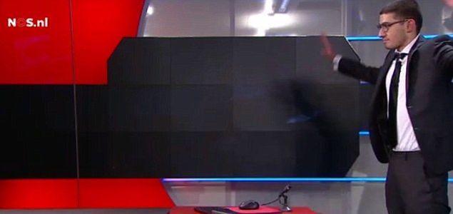 Uzbrojony mężczyzna zaatakował holenderską telewizję