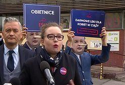 Wybory parlamentarne 2019. Lewica protestuje przed siedzibą PiS