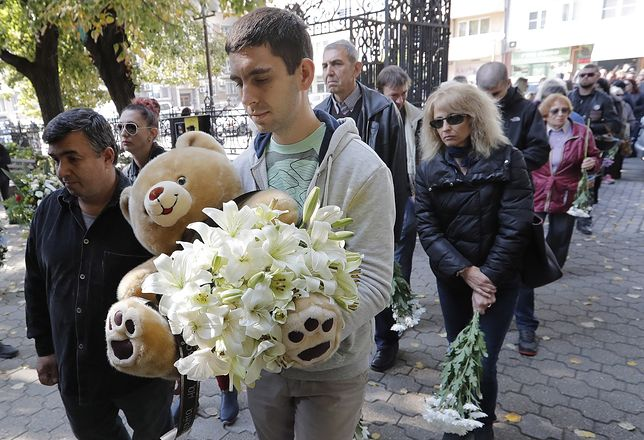 Pogrzeb Wiktorii Marinowej w jej rodzinnym mieście Ruse