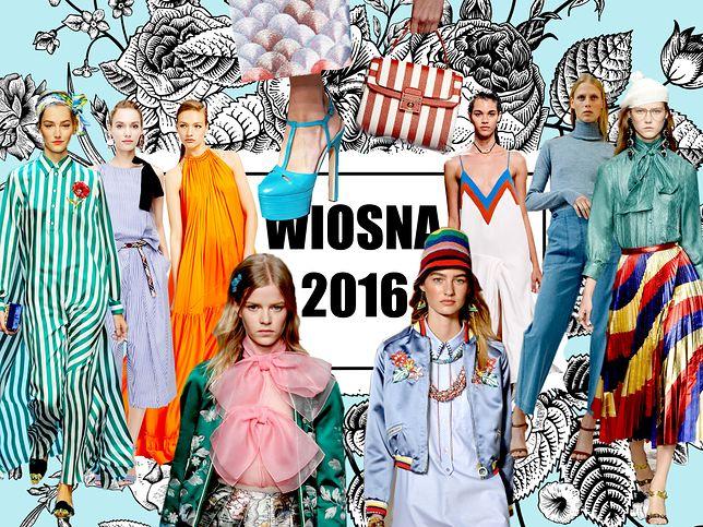 Trendy na wiosnę-lato 2016