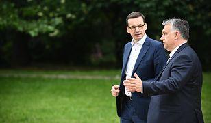 Premierzy Polski i Węgier Mateusz Morawiecki i Viktor Orban podczas majowego spotkania w Warszawie