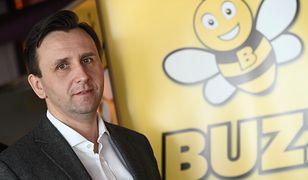 Prezes Ryanair Sun Michal Kaczmarzyk przedstawił plany rebrandingu przewoźnika na Buzz.