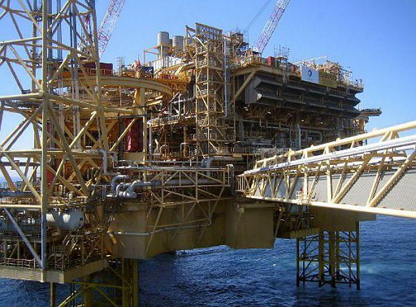 Platforma wiertnicza Elgin - zdjęcie z 2009 roku