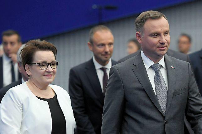 Minister Anna Zalewska, prezydent Andrzej Duda