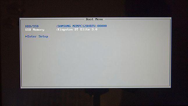 Menu bootowania (BIOS)