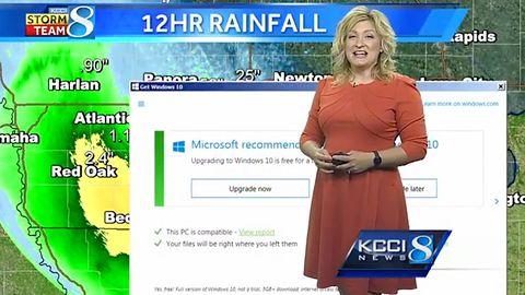 Microsoft w najwyższej formie: komunikat o Windowsie 10 przesłonił prognozę pogody