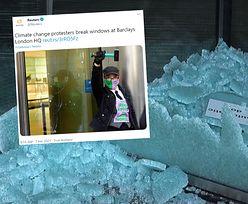Aktywiści klimatyczni uderzyli w giganta. Wybite szyby w banku w Londynie