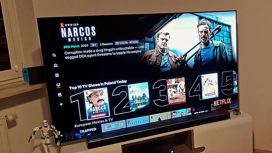 Netflix wyświetla listy najpopularniejszych filmów i seriali. Odświeżane są codziennie, fot. materiały własne